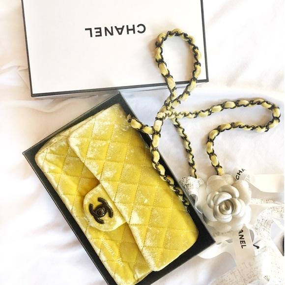 5315d999f2d9 CHANEL Bags | Velvet Quilted Classic New Mini Flap | Poshmark